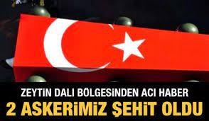 Zeytin Dalı bölgesinden acı haber: 2 askerimiz şehit oldu - GÜNCEL Haberleri