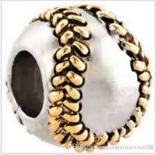 2019 fits pandora bracelets golden baseball silver charm beads spo chamilia charms for whole diy european necklace snake chain bracelet from