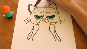 easy grumpy cat drawing. Modren Easy Easy Grumpy Cat Drawing  Coloring Page Intended