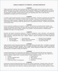 General Professional Summary For Resume Professional Summary For Resume No Work Experience Free Great Resume