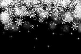 白黒シルエット雪の結晶のイラスト素材無料商用フリー じゃ