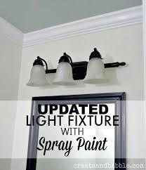 painting light fixtures. Interesting Spray Painting Light Fixtures Updated Fixture Paint Silver U