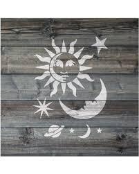 kid wallpaper usa mylar. Celestial Sun And Moon Stencil On Reusable Mylar For Crafts, Kid Wallpaper Usa
