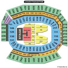 Lincoln Financial Field Seating Chart For Kenny Chesney