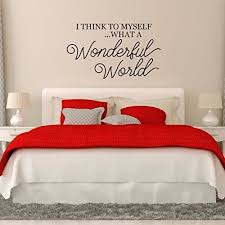 what a wonderful world vinyl wall decoration for home