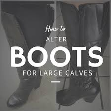 how to stretch the shafts on tall calf boots