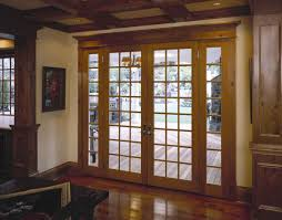 image of sliding french doors with blinds between the glass