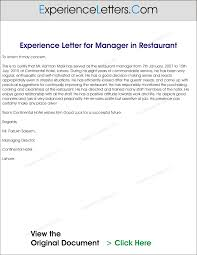 Experience Letters And Certificates Sample Experience Letter