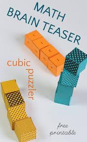 Brain Teaser for Kids: Math Cube Riddle   Brain teasers, Math and ...