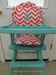 high chair tray cover. antique painted wooden high chair with monogrammed cushion! love! my child will have this tray cover