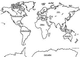 World Map Coloring Page Printable World Map Coloring Page For Kids