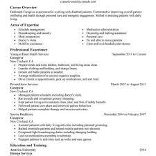 beautiful resume for caregiver duties photos simple resume