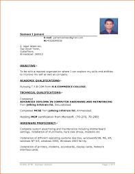 Job Resume Format Pdf Awesome Resume Format Sample Inspiration
