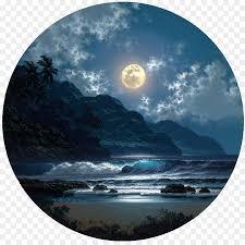 moonlight oil painting night art painting