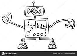 Robot Karakter Kleurplaat Stockvector Izakowski 134973700