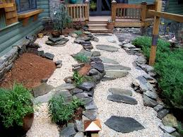 Small Picture Backyard Landscaping Ideas With Stones Architect Beautiful Garden