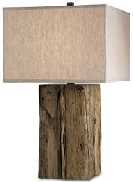 modern rustic lighting. lamp modern rustic at itu0027s best rough weathered worn piece of wood square lampshade lighting