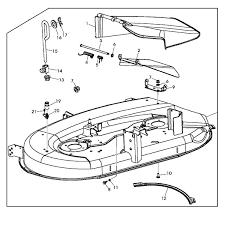 la 100 john deere lawn mower wiring diagram great installation of john deere replacement 42 inch mower deck housing gy22226 rh shopgreendealer com john deere sabre lawn mower wiring diagram john deere 110 garden tractor