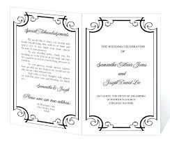 Wedding Template Microsoft Word Microsoft Word Wedding Program Templates Antonchan Co