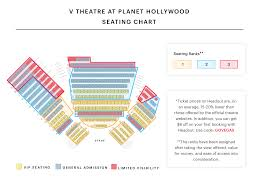 Planet Hollywood Seating Chart V Theatre Saxe Theatre