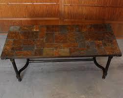 slate top coffee table stone pattern
