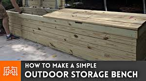 outdoor storage bench woodworking how to