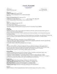 Freshman College Student Resume College Resume Format Resume Samples