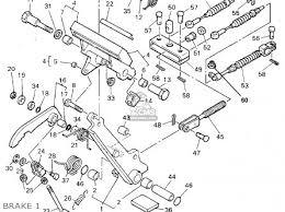 yamaha g16 ap ar 1996 1997 parts lists and schematics brake 1