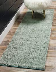 light blue runner rug unique loom solo collection plush casual light blue runner rug 2 x