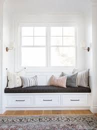 AMBER INTERIORS // Window seat, throw pillows, decorative pillows ...