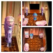 my animal crossing bathroom with a pair of merlions