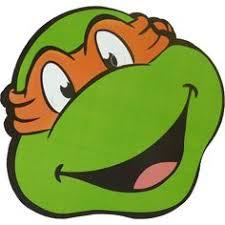 ninja turtles michelangelo face. Ninja Turtle Face Paint Mask Cookies Cakes Throughout Turtles Michelangelo