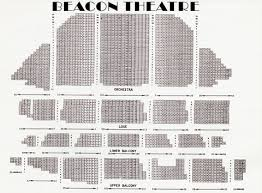 Beacon Theater Detailed Seating Chart 58 Thorough Beacon Theater Nyc Seating Chart Pdf