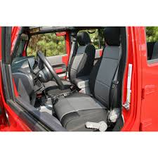 seat cover kit front neoprene black gray 07 10 jeep