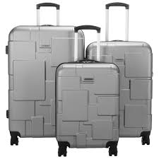 samsonite pinsky 3 piece hard side expandable luggage set silver luggage sets best canada