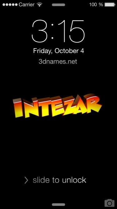 intezar name wallpaper