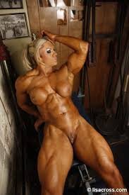 Naked body building woman