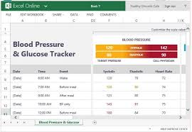 Glucose Charts Free Blood Pressure And Glucose Tracker For Excel