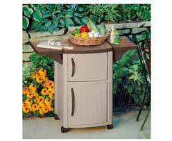 bbq prep station grill cabinet storage serving table food cart patio backyard