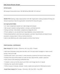 Data Analyst Sample Resume Letter Resume Directory