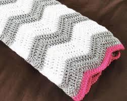 pink and grey crochet blanket - Buscar con Google   afghans ... & pink and grey crochet blanket - Buscar con Google. Chevron Baby ... Adamdwight.com