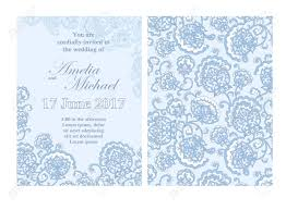 Light Blue Wedding Invitations Elegant Wedding Invitation Card Template In Light Blue Colors