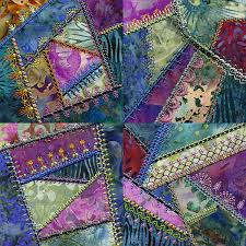 Decorative Embroidery Stitches: Crazy Quilting & Simply Crazy quilt by Molly Mine Adamdwight.com