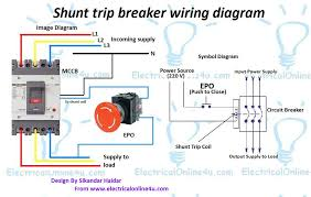 4 wire circuit breaker diagram shunt trip breaker wiring diagram explanation shunt trip breaker wiring diagram