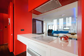 kitchen color ideas red. Excellent White And Red Themes Kitchen Decors With Counter Island Under Freestanding Plywood Cabinets In Modern Decoration Ideas Color
