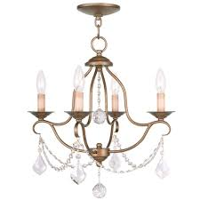 filament design providence 4 light antique gold leaf incandescent ceiling mini chandelier