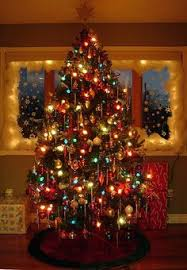 Exclusive Inspiration Colored Christmas Tree Lights Retro Tree ...