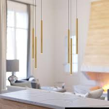 Industrial Vintage Chandelier Ceiling Light 3 Pendant Brass