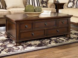 image of wooden storage trunk chest coffee table multifunction furniture