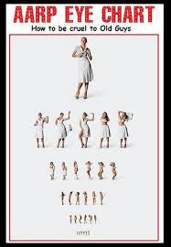 How To Be Cruel To Old Guys Aarp Eye Chart Squinting Really Hard Aarp Eye Chart Funny